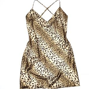 Vintage VS • Size M Cheetah Print Chemise Lingerie